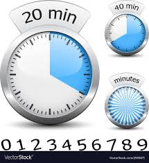 How To Make A One Minute Timer Timer Easy Change Time Every One Minute Vector Image