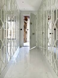 Mayfair Bachelor Pad Hallway feature mirror panelling