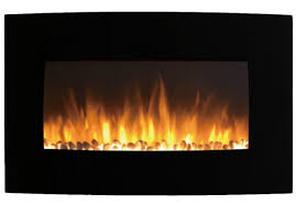 inch curved pebble wall mounted electric fireplace