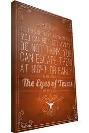 texas longhorn eyes of texas print canvas university co op