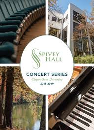 Season Brochure Spivey Hall Clayton State University