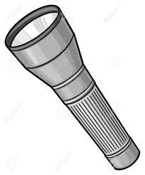 Torch Light Vector Flashlight Vector Illustration