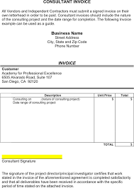 invoice template consulting consulting invoice template template free download