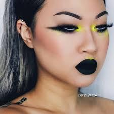 fancy makeup rave makeup green makeup makeup inspo makeup ideas makeup goals neon green silk ribbon hair and makeup