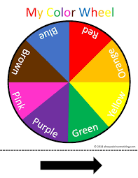This color wheel can be used to find out whether two colors can match well. Free Printable Color Wheel Color Wheel Preschool Colors Color Wheel Worksheet