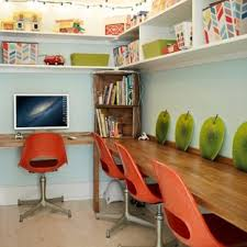 eclectic home office. Eclectic Built-in Desk Home Office Photo In Atlanta Eclectic