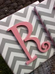 1 chevron monogram canvases 25 teenage girl room decor ideas16 use a canvas cover in fabric and paint wooden letters to match room decor