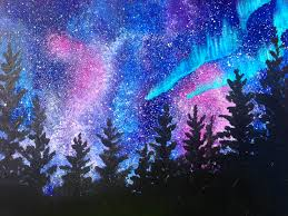 tree wall decor art youtube: aurora borealis painting in acrylic art lesson online youtube the art sherpa https