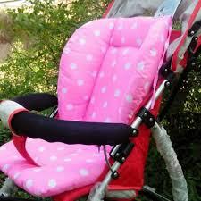 Portable <b>Baby Stroller</b> Polka Dot <b>Printed</b> Comfortable Seat <b>Cushion</b> ...