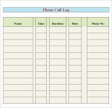 Phone Call Log Template Best Of 8 Free Printable Phone Log