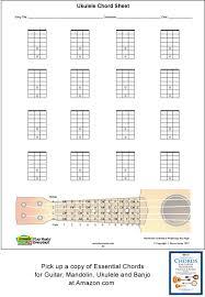 Blank Ukulele Chord Chart Printable Ukulele Blank Printable Chord Boxes Acoustic Music Tv
