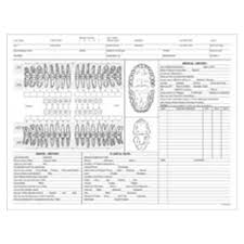 Clinical Record Dental Charts 2 Sided White 100 Package