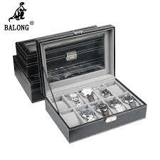 online get cheap mens watch organizer aliexpress com alibaba group new super deluxe edition pu leather 10 slots wrist watch display box organizer men watch case