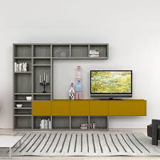 Contemporary modern design TV stand or media unit Senape by Mobilstella,  wall mounted living room