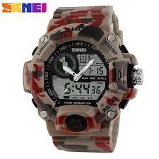 skmei 1029 50m waterproof led digital anolog dual time quartz watch skmei 1029 50m waterproof led digital anolog dual time quartz watch men military army outdoor sports