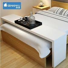 rolling table over bed movable across the bed desk laptop computer table rolling bedside table with