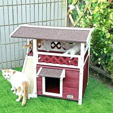kitty condo cat plans outdoor simple
