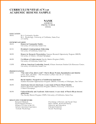 7 Curriculum Vitae Resume Samples Offecial Letter