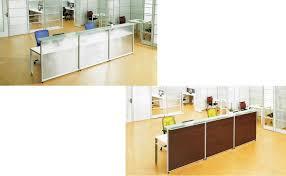 front desk furniture design. steel frame glass panel office front desk counter furniture design