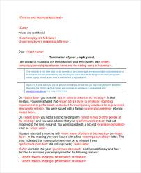 job termination letters 53 termination letter examples
