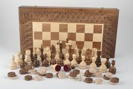 Handmade Wooden Board Games MADEHEART Handmade board games wooden chessboard chess pieces 82