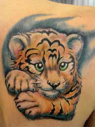 baby tiger drawing tattoo. Modren Baby And Baby Tiger Drawing Tattoo E
