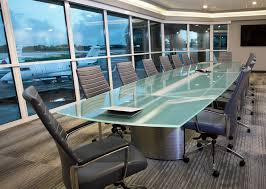 simplified crescent 20 frosted glass conference table