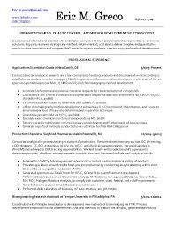 Eric Greco Chemist Resume. Eric.m.greco@gmail.com www.linkedin.com/ in ...