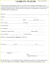 Liability Waiver Form Template Free Waiver Template Free Sports Form Liability Medicare Of