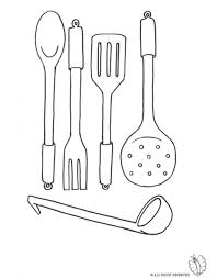 Small Picture Print Cooking Utensils for coloring