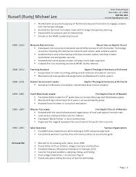 Student Ministry Resume Professional Resume Templates