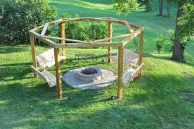 picture of porch swing fire pit