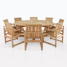 round teak dining set for 8