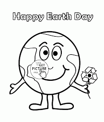Small Picture Cute Earth coloring page for kids coloring pages printables free