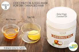 extra virgin coconut oil hydrates and repairs damaged hair 2 tablespoons