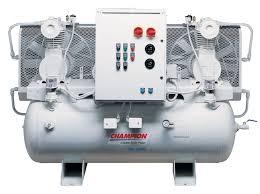 compresor industrial. 5 hp duplex 80 gallon horizontal champion mtoii industrial air compressor compresor r
