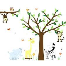 safari wall decals art jungle ll decal elephant for boys nursery theme