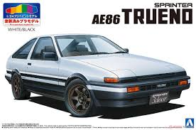 Toyota AE86 Trueno `83 (White/Black) (Model Car) Images List