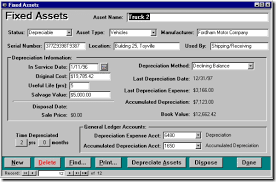 depreciation of fixed asset fixed assets ms access accounting software accounting software