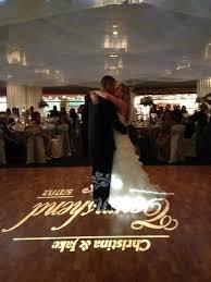 orlando wedding dj and lighting yellow uplighting and monogram