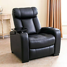 sams exclusive larson leather reclining home theater chair chairs living room