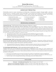 School Principal Resume Samples Charming Assistant Principal Resume