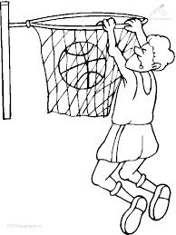 1001 Kleurplaten Sport Basketbal Kleurplaat Basketbal