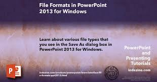 File Formats In Powerpoint 2013 For Windows