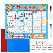 Details About Reward Chart For Kids Children By Magnetic Star Chart Inspires Good Behavior Au