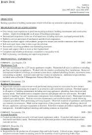 Resume For Maintenance Worker Inspiration Building Maintenance Worker Resume Colbroco