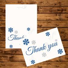 snowflake thank you cards snowflake thank you cards printable royal blue and silver snowflake