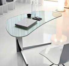 ... Clear Glass Fabulous Home Office Decoration Design With Ikea Glass Desks  Interior Ideas : Simple And Neat Home ...