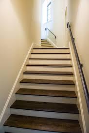 hardwood floor staircase