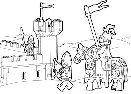 Lego Duplo Knights Coloring Page For Kids Printable Free Lego
